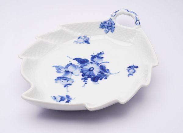 Royal Copenhagen Blattschale Blaue Blume