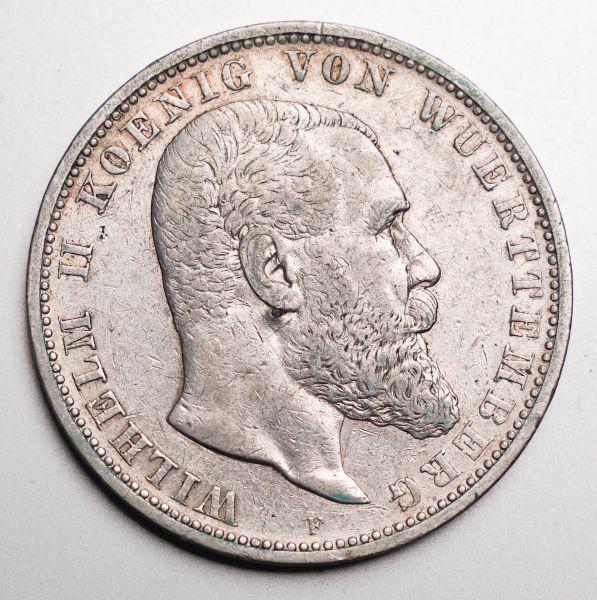 Deutsches Reich 5 Mark 1901 König von Würtemberg