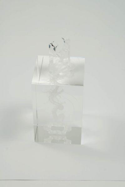 Montblanc Dekoration Glasblock Drache