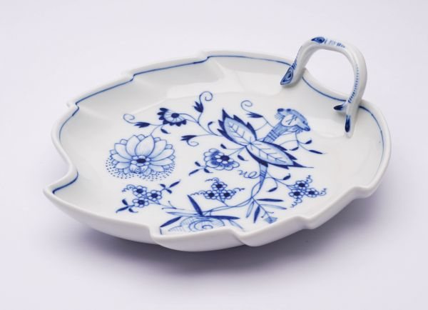 Meissen Blattschale Blaue Blume 1. Wahl