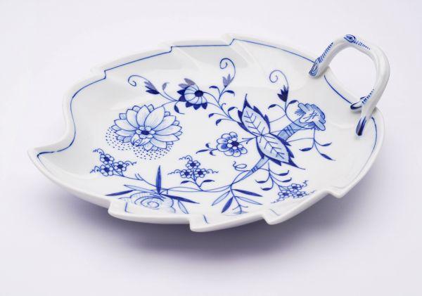 Meissen Blattschale Blaue Blume