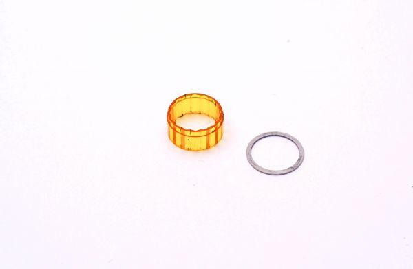 Montblanc Füllfederhalter no 14 Sichtfenster gelb mit Ring