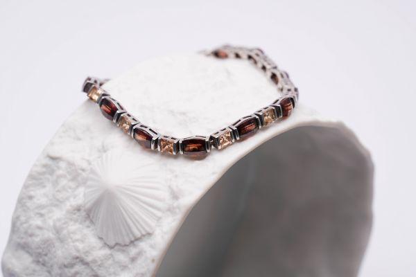 Armband Silber mit farbigen Steinen