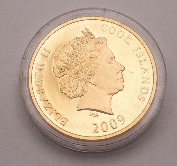 Münze Elizabeth II 2009 Cook Inseln Brandenburg Gate