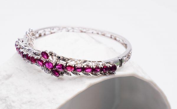Armband Silber mit violetten Steinen