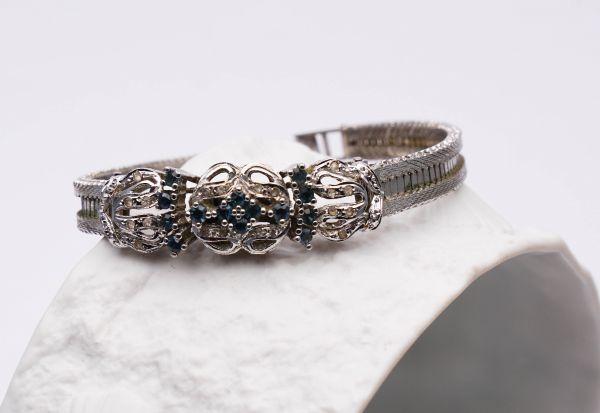 Armband Silber mit blauen Steinen