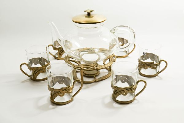 WMF Teeservice Teekanne und 6 Gläser