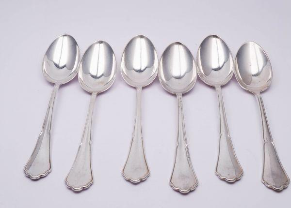 1 Menülöffel Suppenlöffel 800 Silber mit Meisterzeichen
