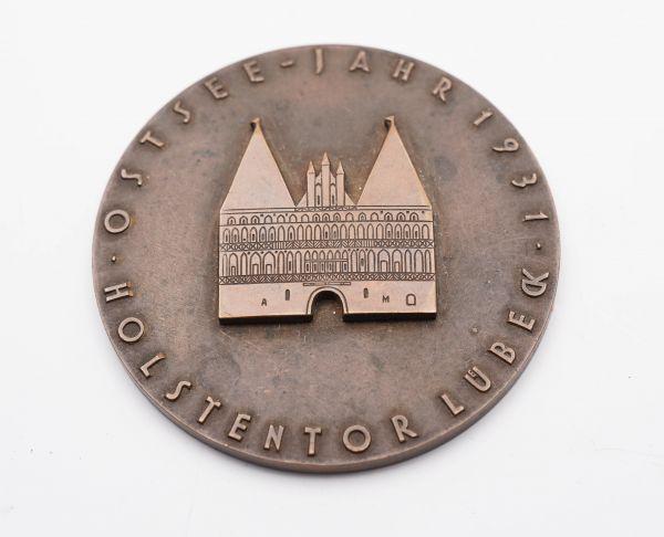 Ostseejahr 1931 Lübeck Holstentor im Hochrelief A. Mahler