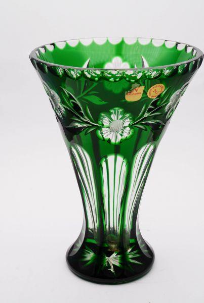 Nachtmann Kristall Blumenvase grün