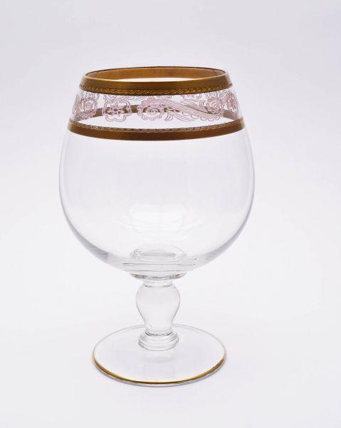 Rotweinglas mit Borde