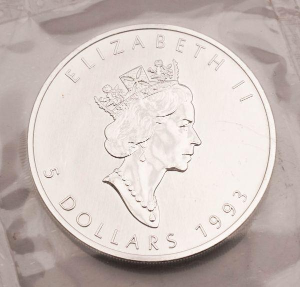 Münze Elizabeth II 5 Dollars 1993 Silber