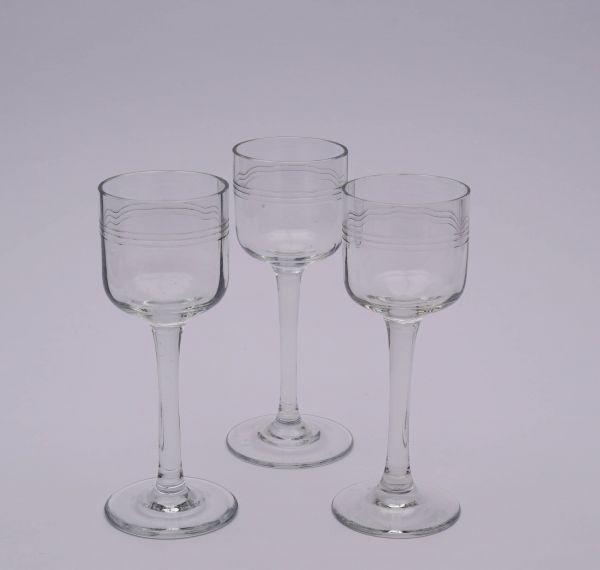 drei Jugendstil Gläser