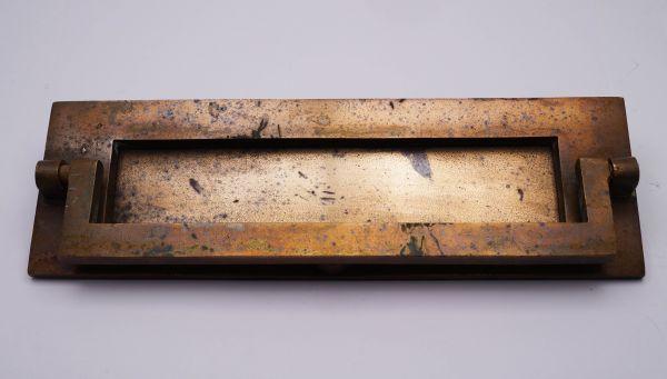 Briefeinwurf Briefschlitz für Haustür Kupfer alt