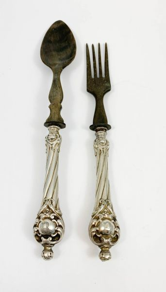 Salatbesteck Silber Horn