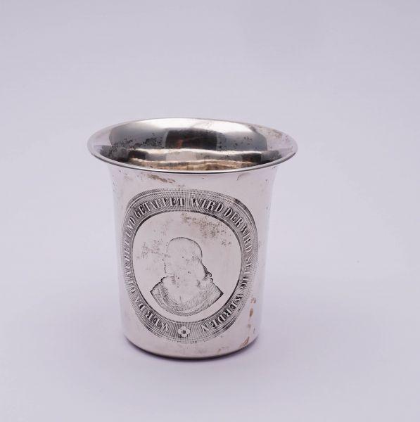 Taufbecher 750 Silber mit Sinnspruch