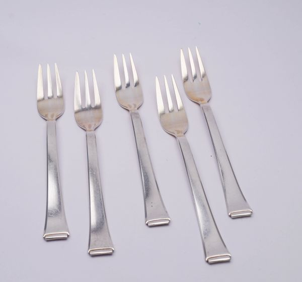WMF 2500 5 Kuchengabeln 800er Silber