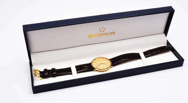 Eterna Herrenarmbanduhr 585 Gold